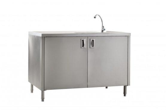 ตู้พร้อมอ่างล้างจานด้านขวา แบบประตูเปิด ไม่มีการ์ดหลัง