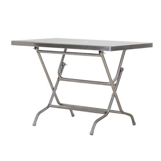 โต๊ะพับสเตนเลส