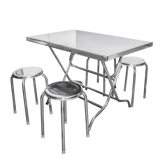 ชุดโต๊ะพับสเตนเลส